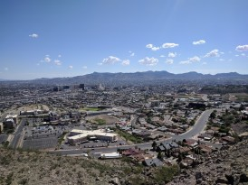 View of El Paso, Texas and Juarez, Mexico
