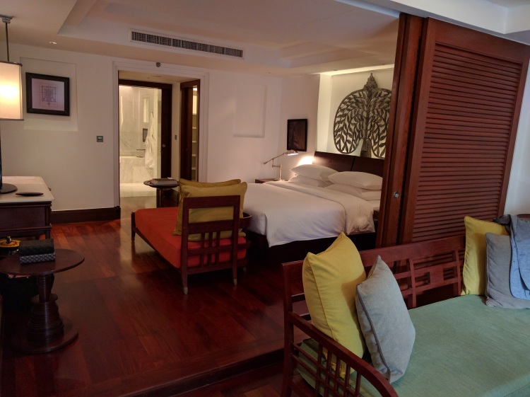 Park Hyatt Siem Reap Pool Suite: view of the bedroom from the living area