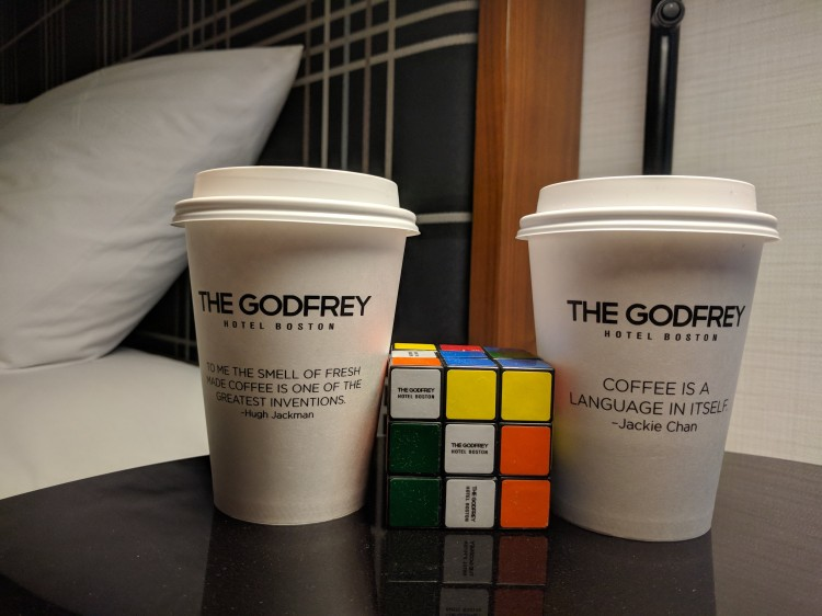Coffee cups at The Godfrey