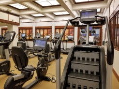 Stair climber and bikes in the gym at the Waikiki Marriott Resort & Spa