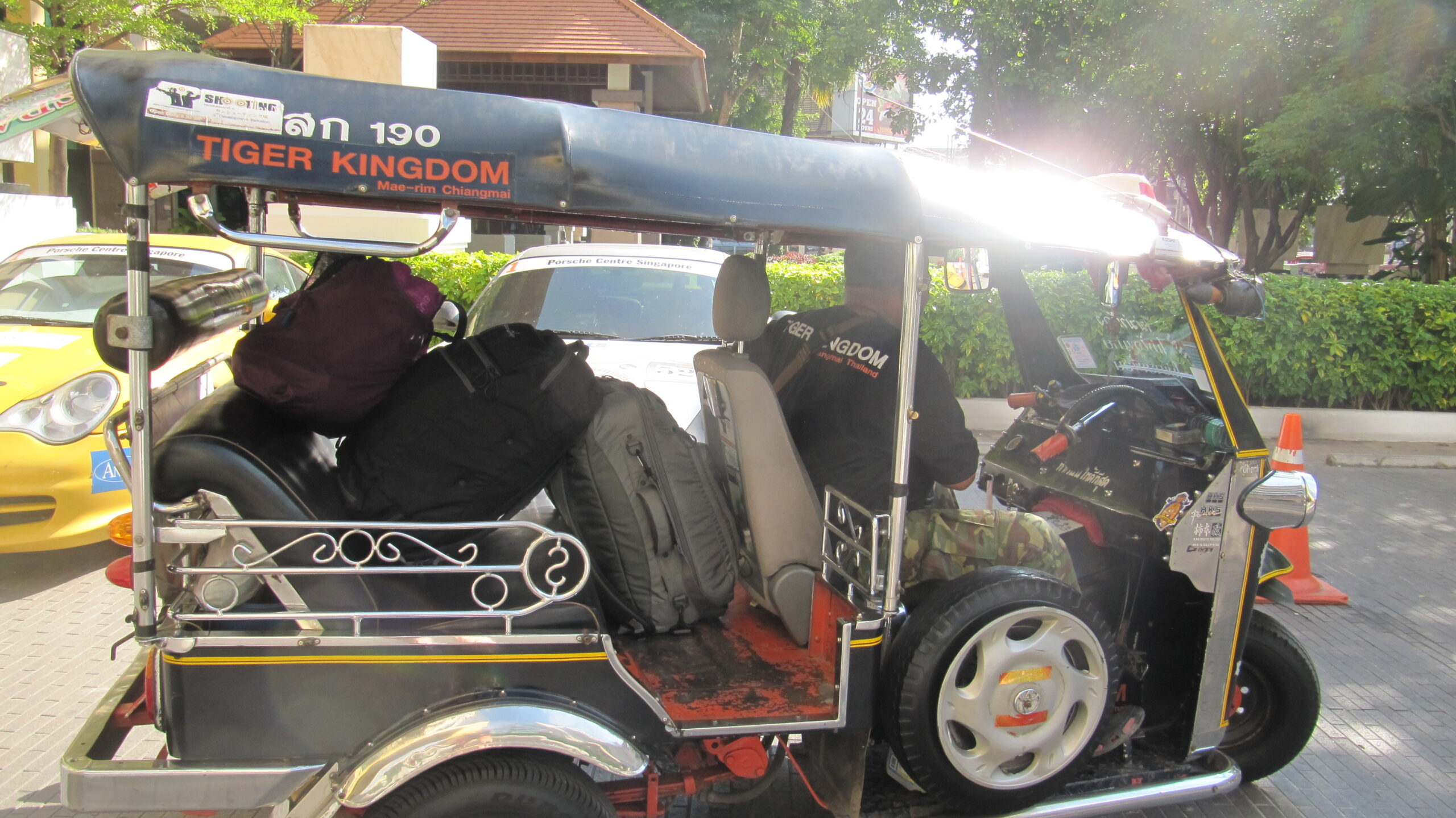 You can take a Tuk Tuk to the airport when traveling with carry-on