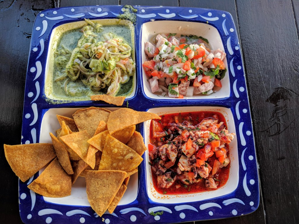 Trio of ceviche at Cielito Lindo