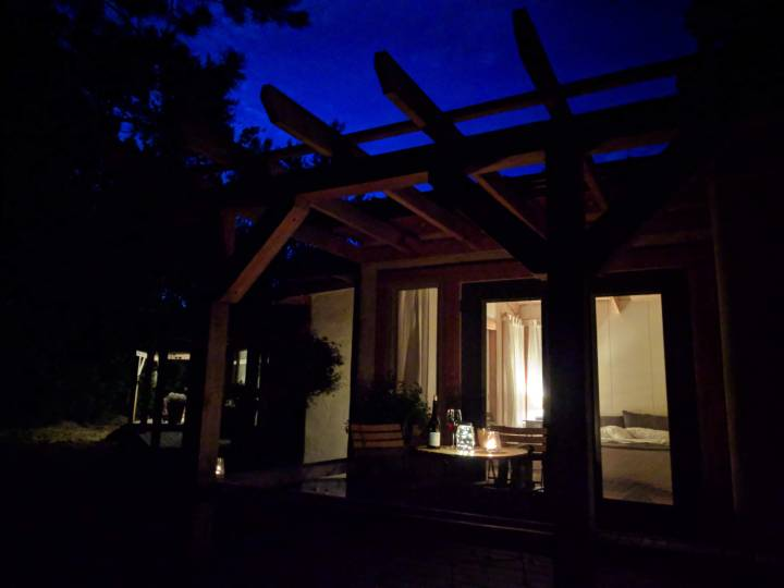 Owl Suite at night at Farmersdotter