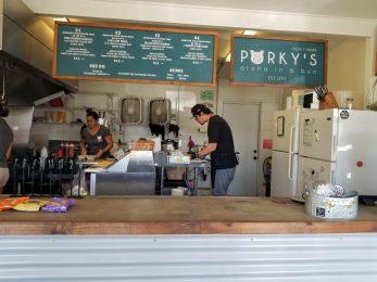 Inside at Porky's in Waimea
