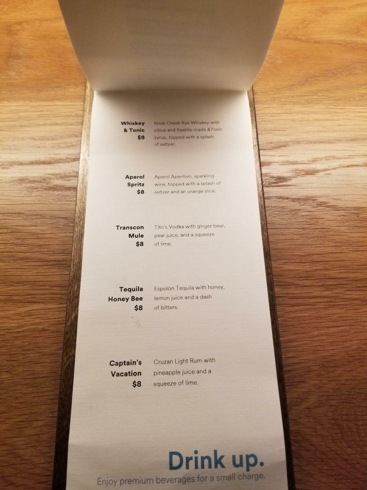 Alaska Lounge N-Gates: Premium Cocktail List