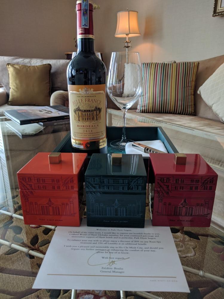 Park Hyatt Saigon Hyatt Globalist gift