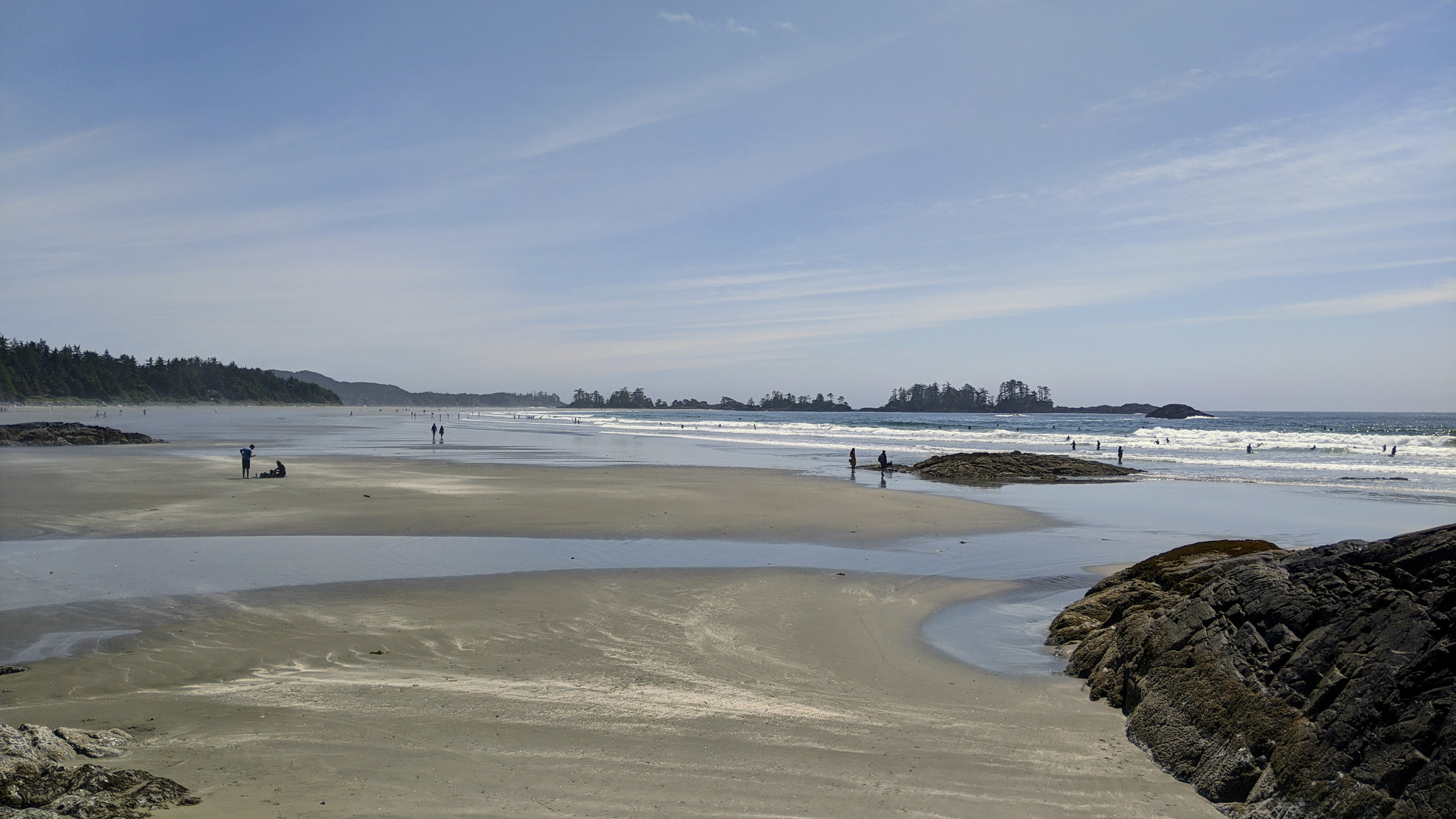 The beach in Tofino