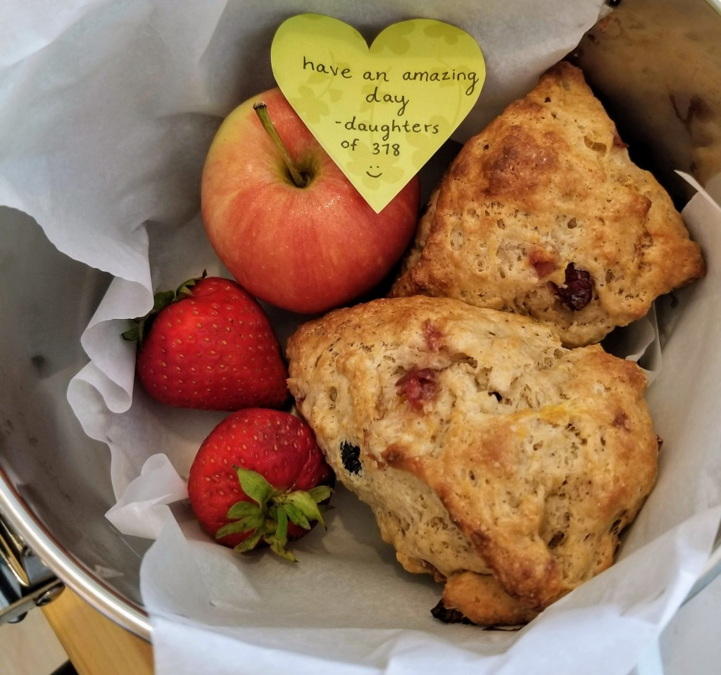 378 Marine Drive Guest House: scones delivered one morning