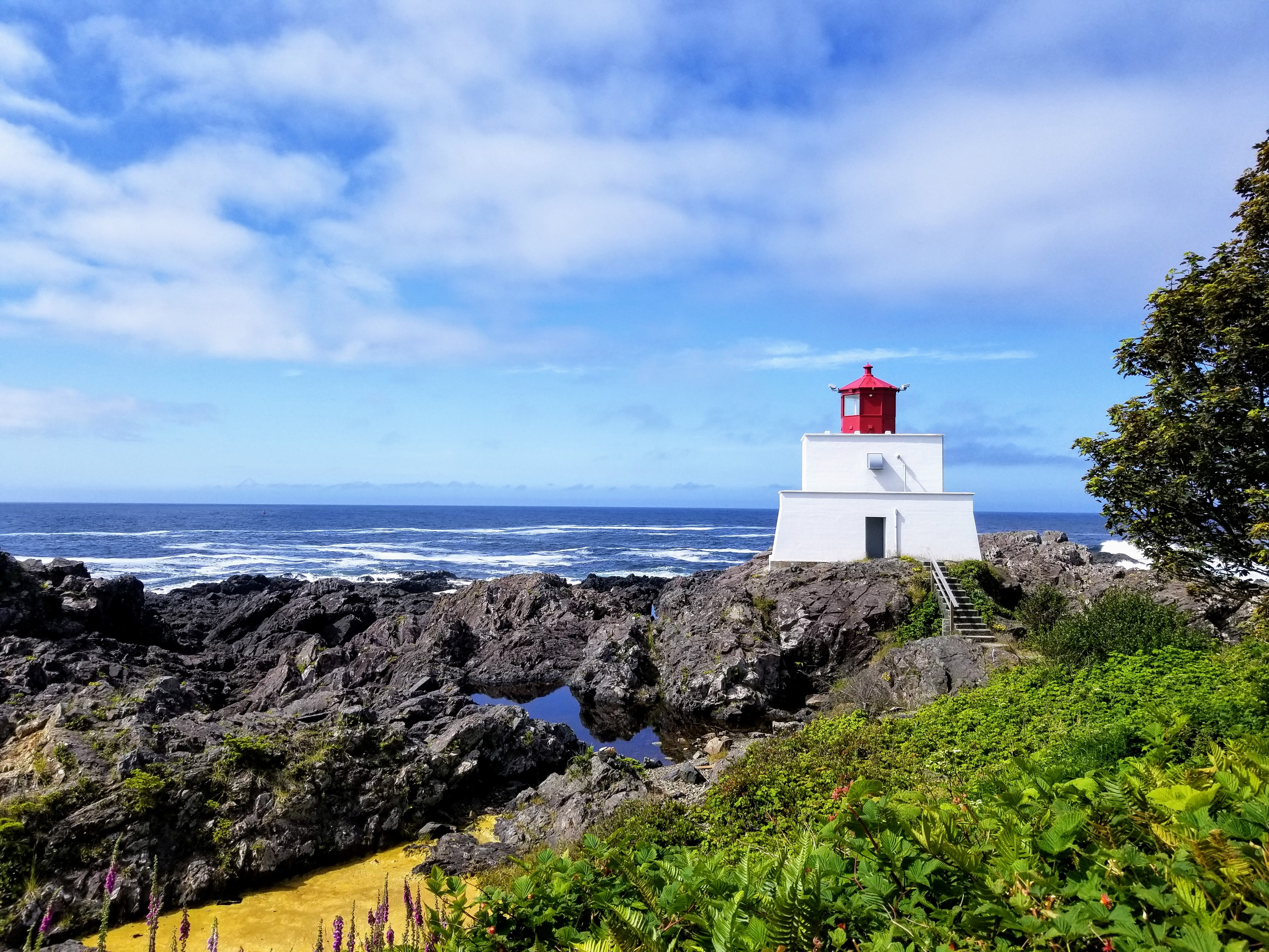 Amphitrite Lighthouse in Ucluelet