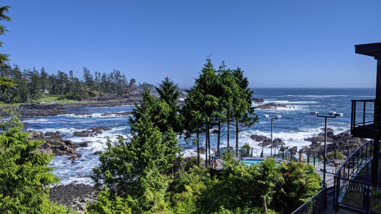 The Black Rock Oceanfront Resort in Ucluelet: view from our room,