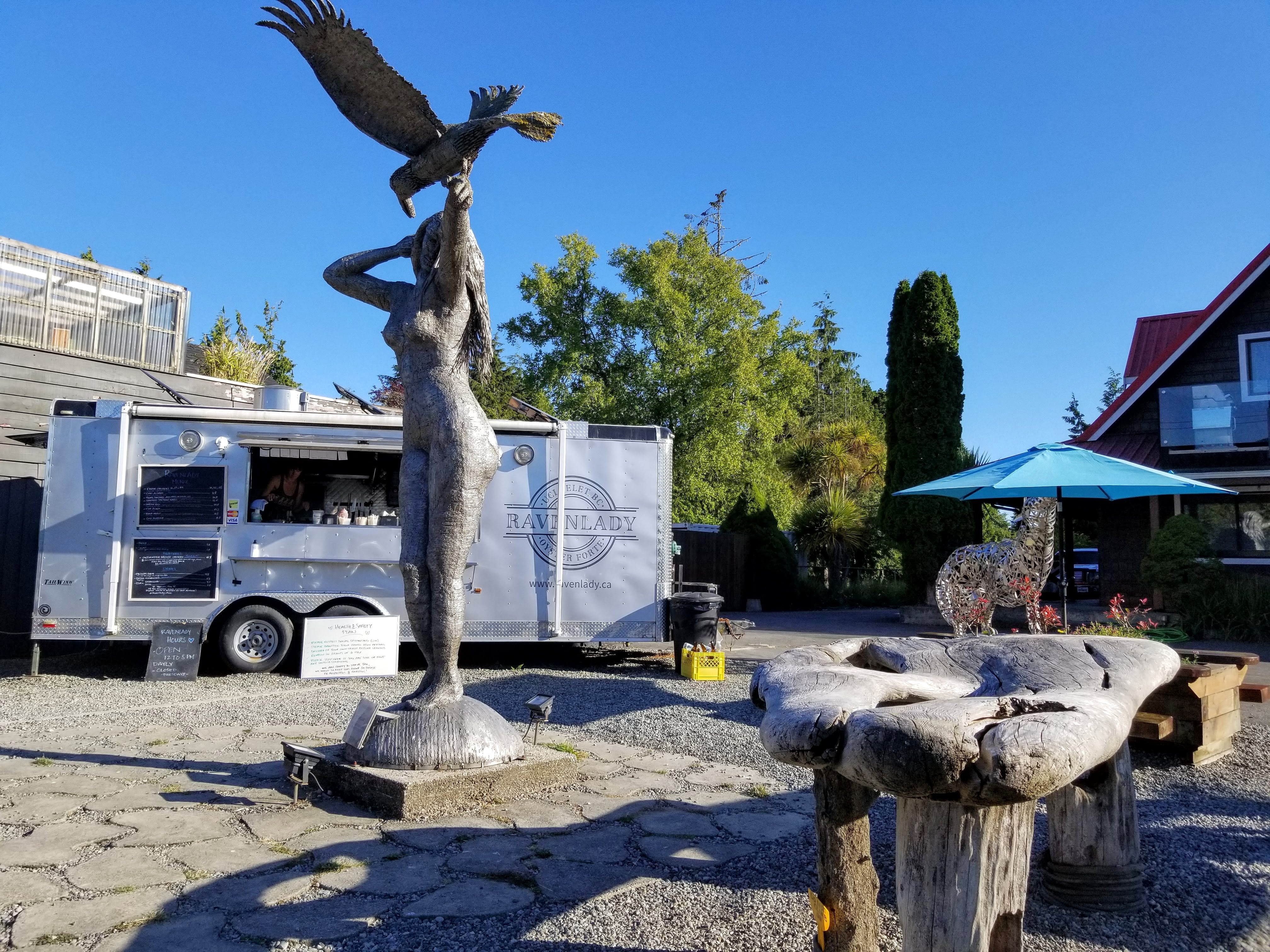 The Raven Lady Food Truck that serves up gourmet seafood