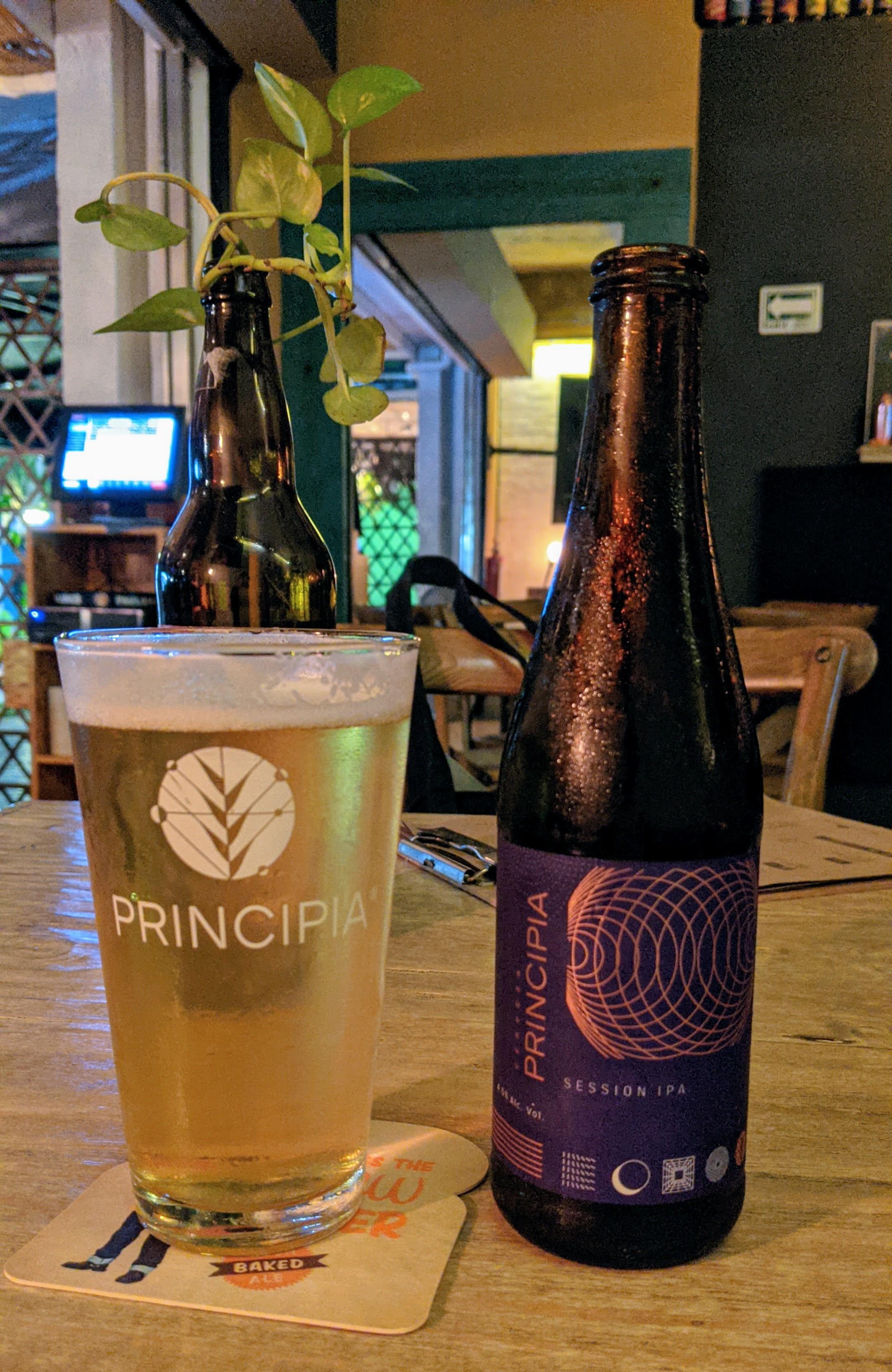 A Principia beer at CMC