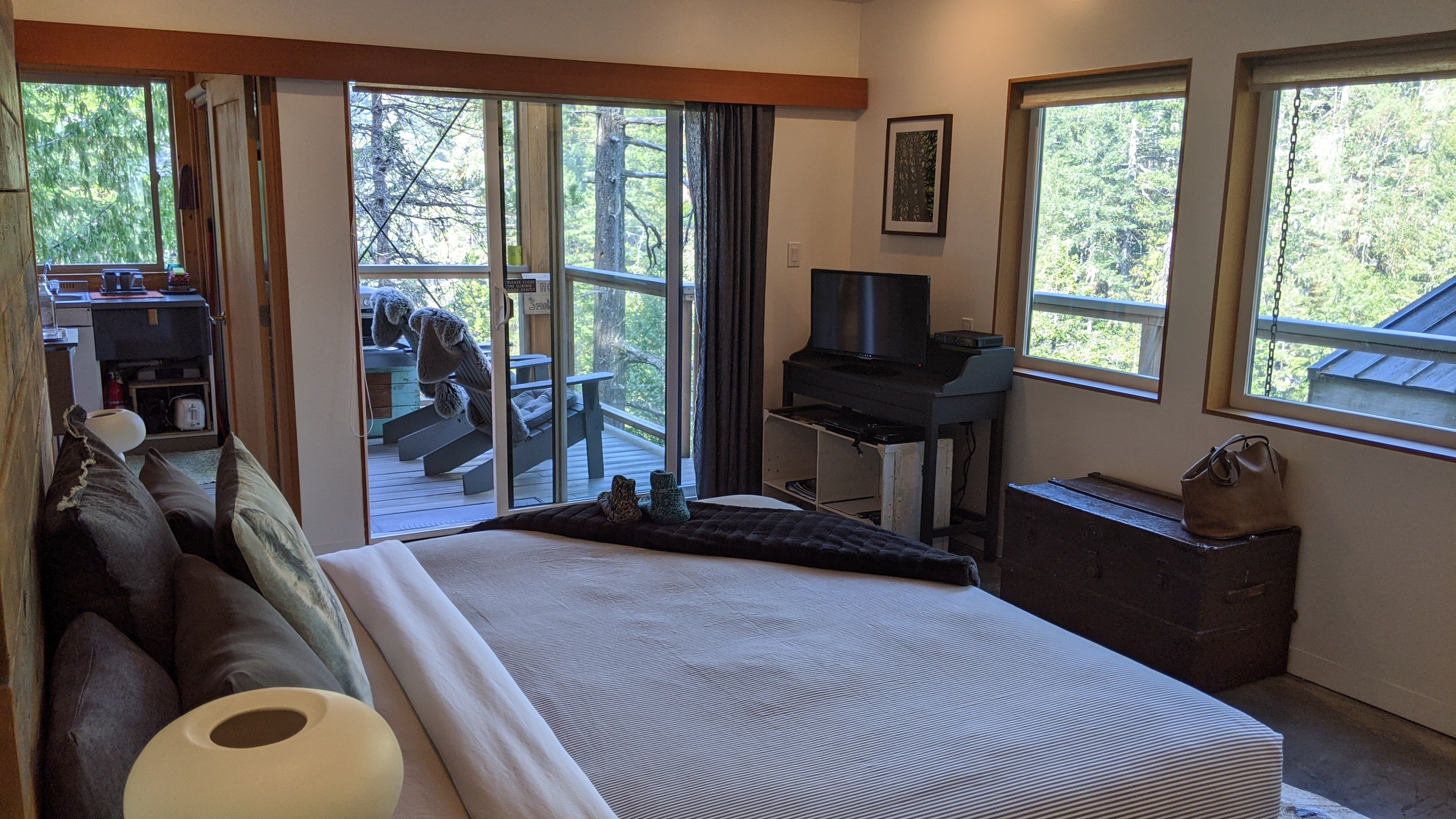 Secret Cove Treehouse Suite: The bedroom/living