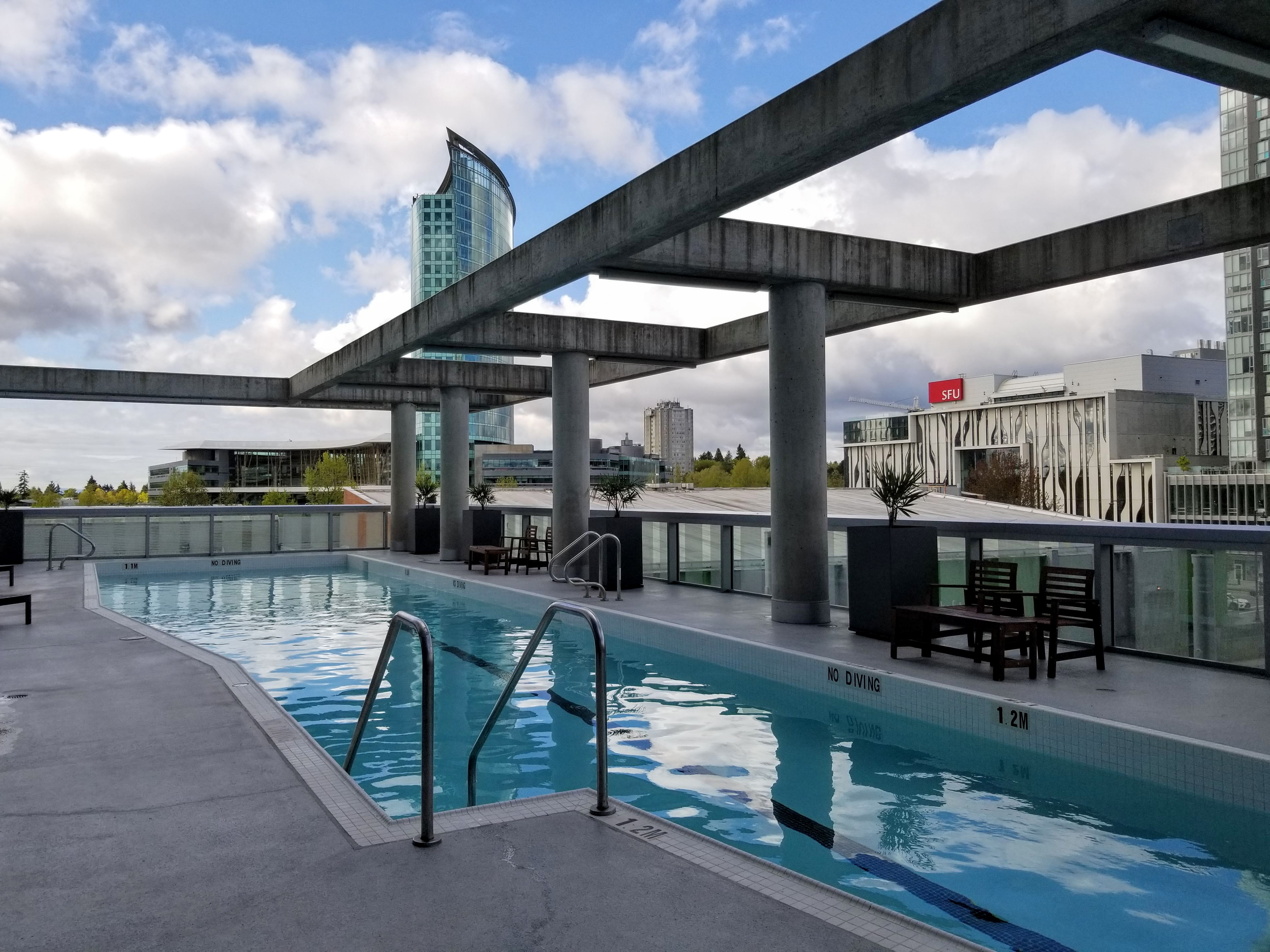 Civic Hotel outdoor heated pool area