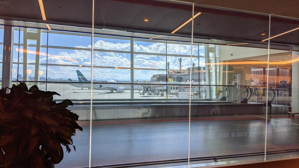 YYC WestJet Elevation Lounge: View