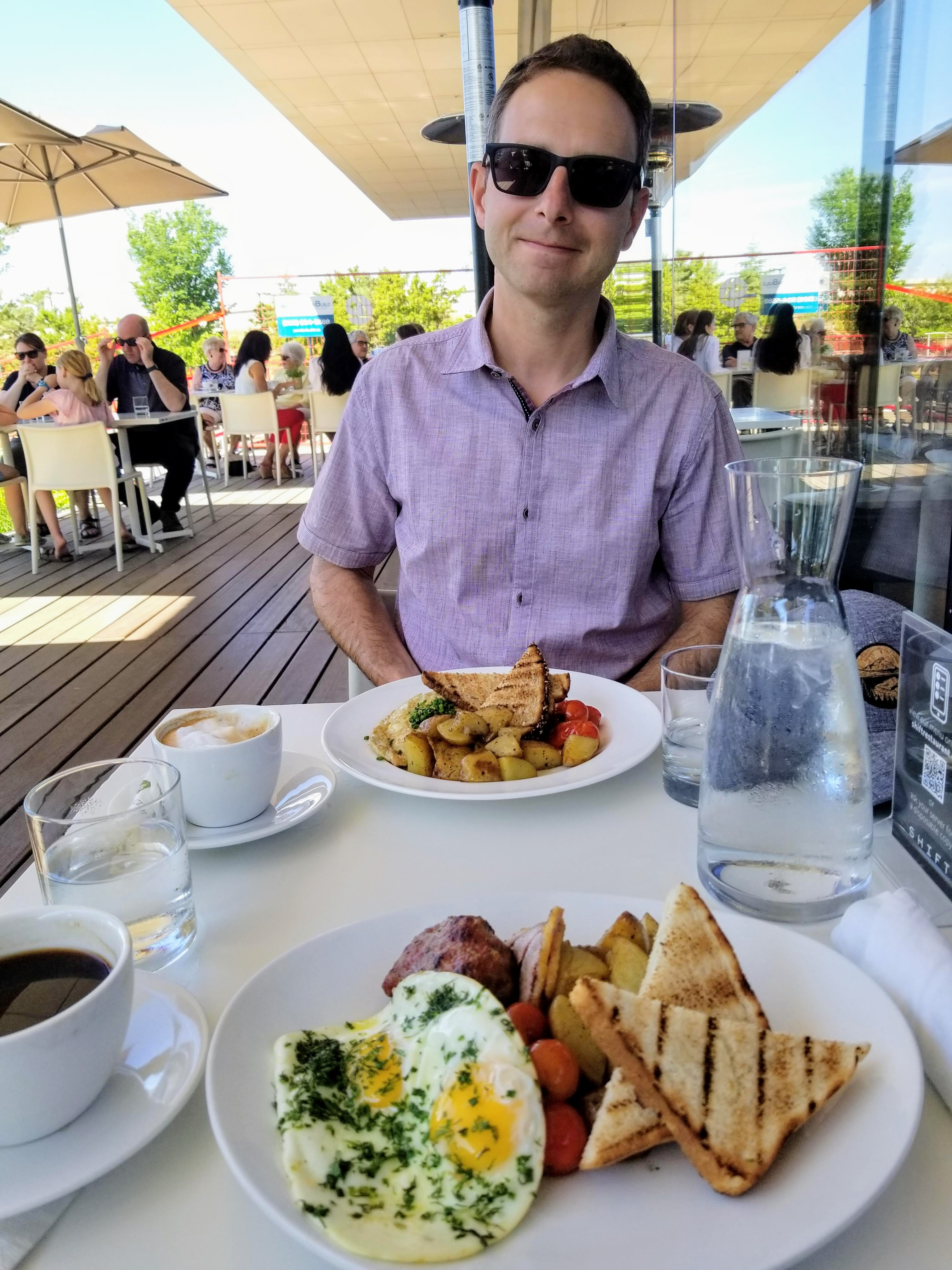 Brunch at Shift Restaurant before exploring the Remai Modern