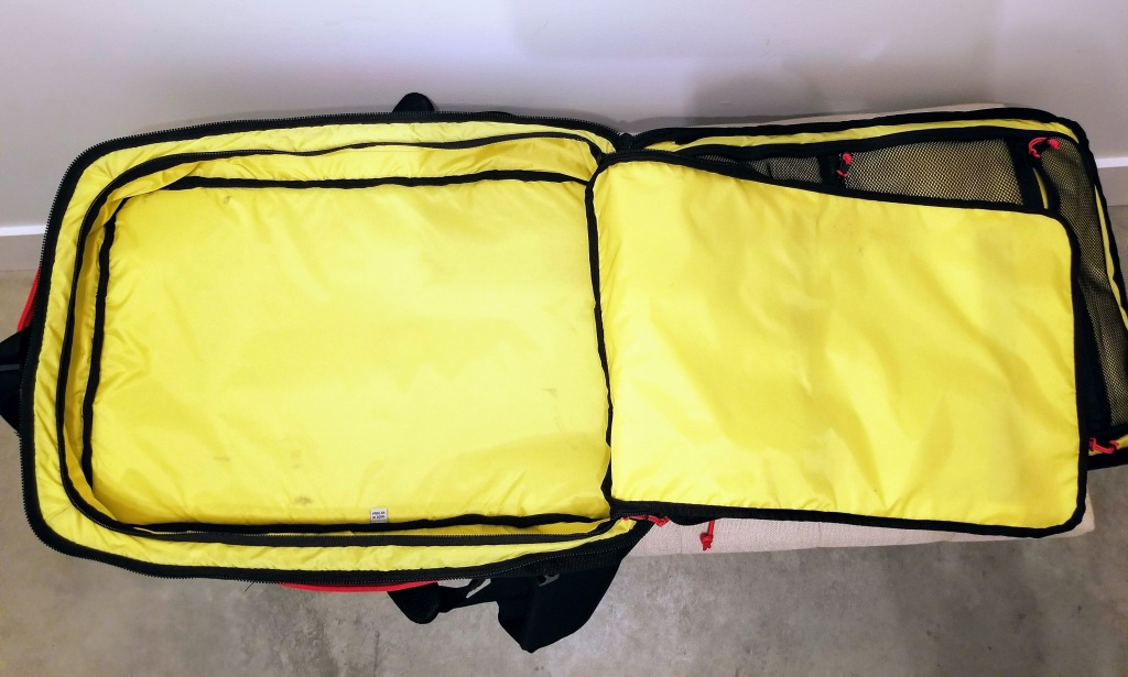 Topo Designs 40L Travel Bags: largest compartment in the bag good for clothes and shoes