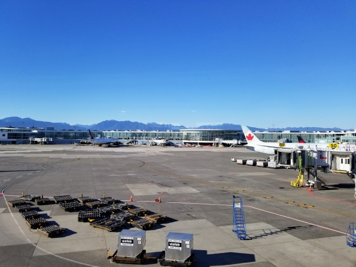 View from the Air Canada Maple Leaf Lounge at YVR