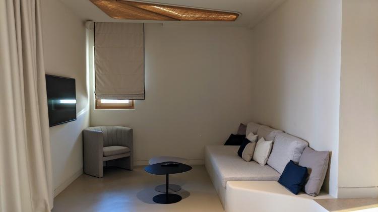 Aegon Mykonos Infinity Suite Revive: living area