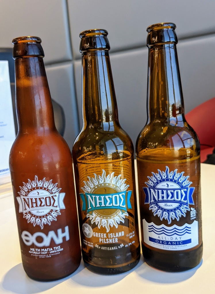 Aegean Lounge in Athens: craft beer from Nissos Brewery