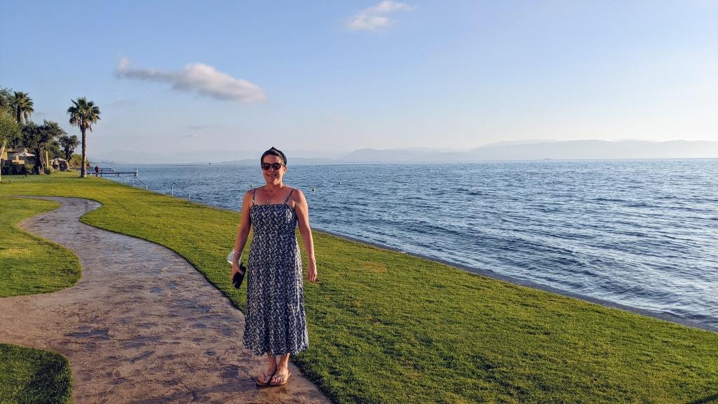 Domes Miramare Corfu Resort: Max on her way to breakfast
