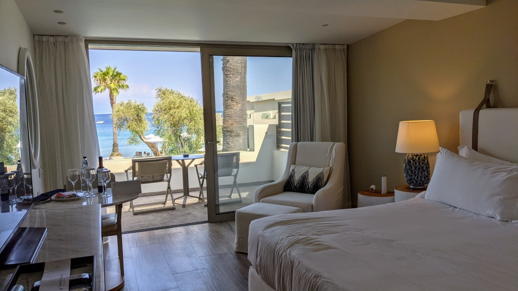 Domes Miramare Corfu: Our seaview room with a king bed