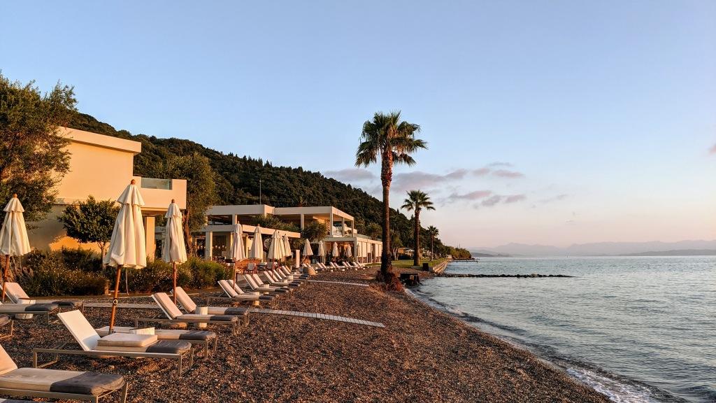 Domes Miramare Corfu Resort: beach area